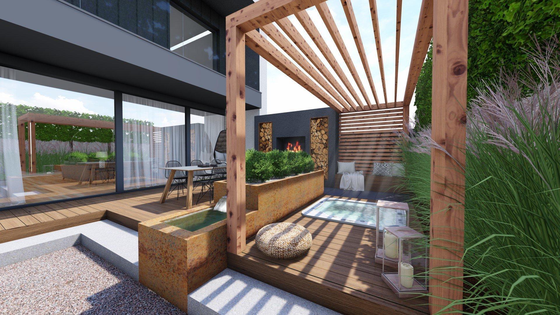 Zahrada má být prostorem pro relaxaci, zábavu a místem setkávání s přáteli nebo rodinou. Z tohoto důvodu byl celek rozdělen do několika zón, díky nimž má i tak…