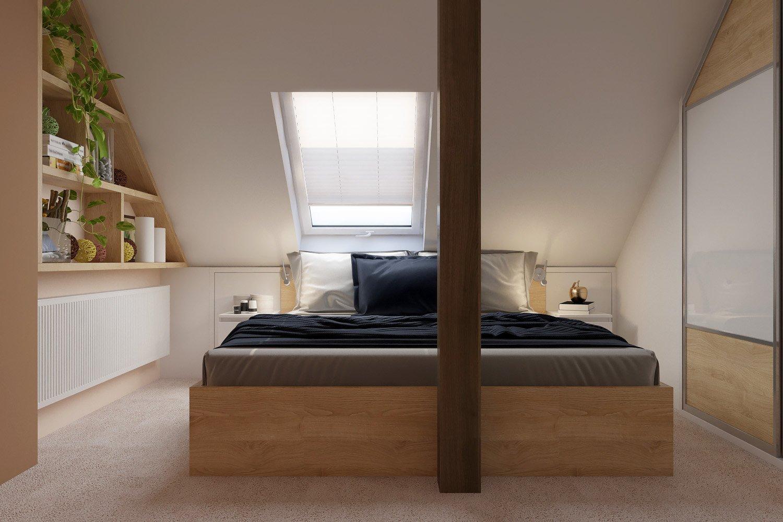 Na každé straně postele je noční stolek, který obsahuje dvě praktické zásuvky a je vyrobený z materiálu lamino (LTD) v dekoru dřeva bílý lesk.