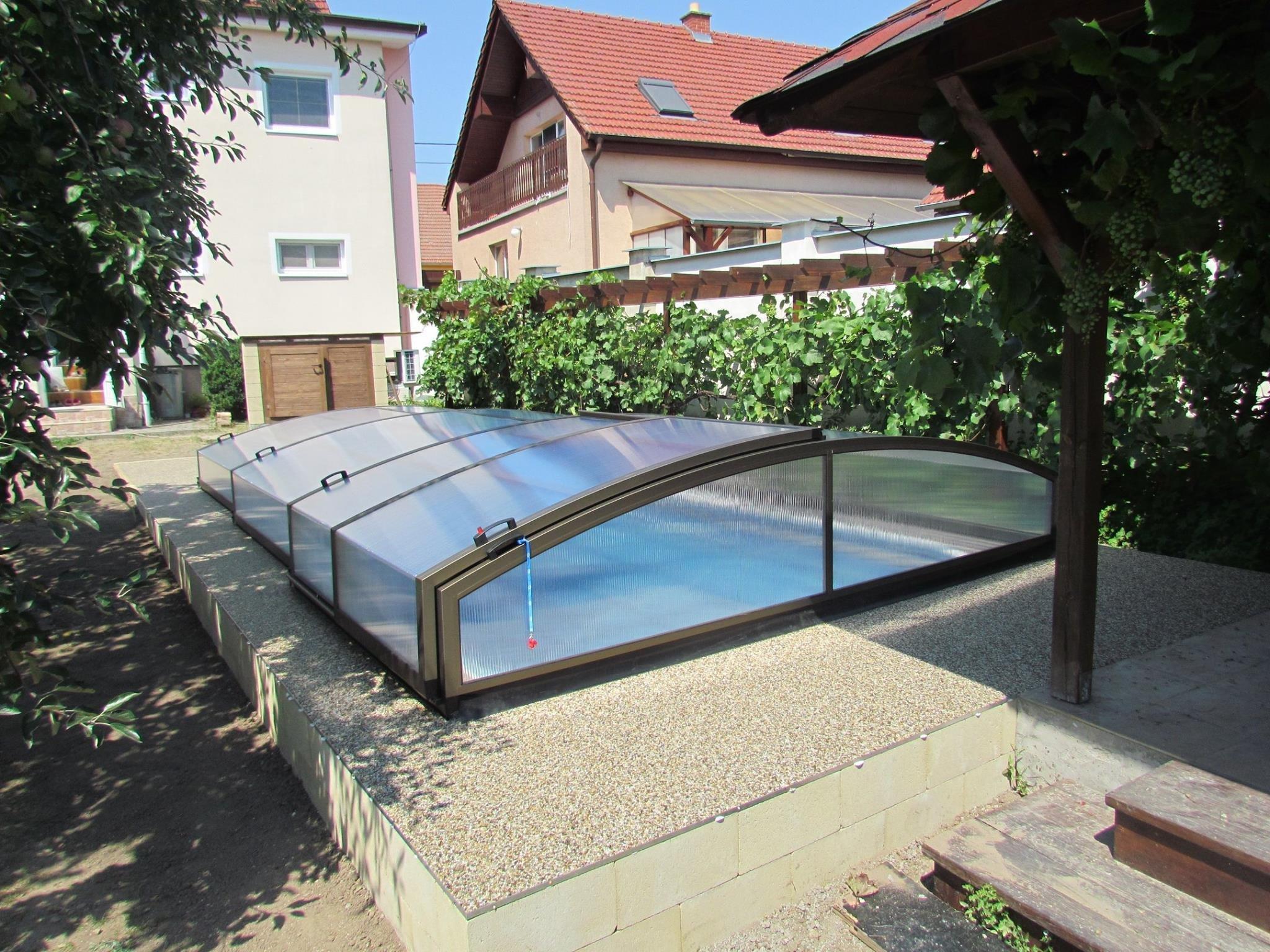 Zastřešení bazénu Alupo New ve 3 segmentech