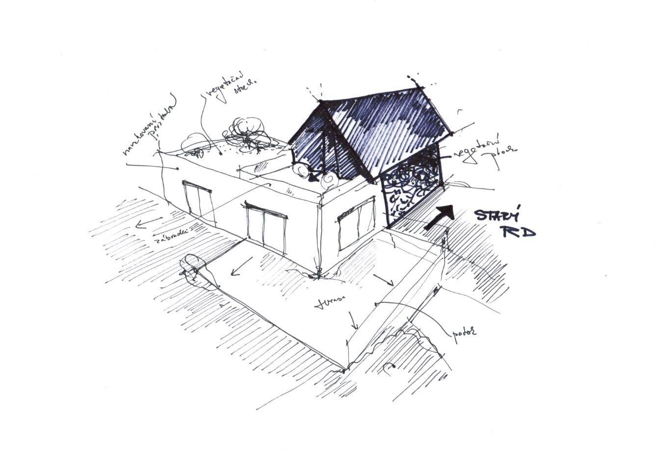 Starý rodinný dom sa nachádza v meste Ilava, v blízkosti potoka. Urbanistický priestor na rozšírenie starého domu bol limitovaný hranicami susedných pozemkov. Zo západnej strany záhradami, z južnej strany susedným domom. Dom v dome ponúka energeticky úsporné a komfortné bývanie. Ponechanie existujúceho rodinného domu bolo vstupnou požiadavkou investora, rovnako aj vytvorenie pivnice a to podpivničením navrhovanej prístavby