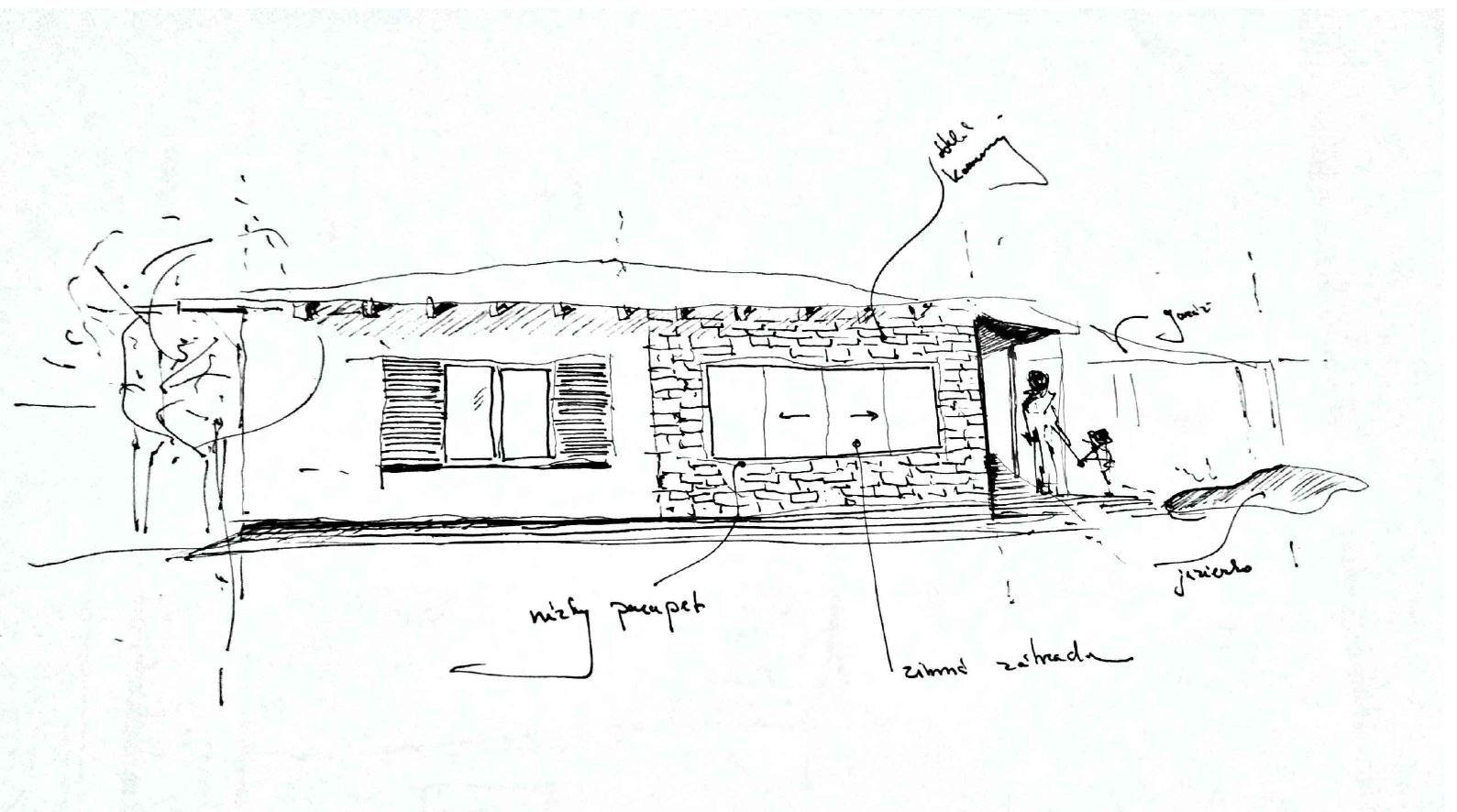 Rodinný dom sa nachádza v katastrálnom území obce Sokolovce, ponúka energeticky úsporné a komfortné bývanie. Ponechanie kamennej studni v dome bolo vstupnou požiadavkou investora. Dominantný prvok studni sa nachádza takmer v strede domu a celý objem navrhovanej prístavby obklopuje už existujúcu studňu. V blízkosti studni sa nachádza kryté posedenie a priestor na odkladanie dreva. Jednoduchý kvádrovitý objem navrhovanej prístavby je zvýraznený prírodnými materiálmi. Keďže sa dom nachádza v príjemnom zelenom prostredí.
