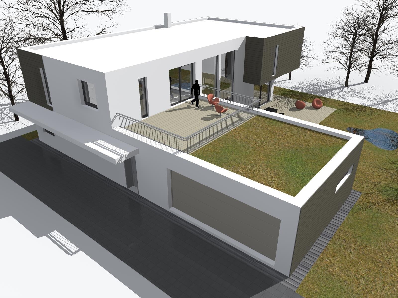 Novostavba rodinného domu v príjemnom zelenom prostredí.