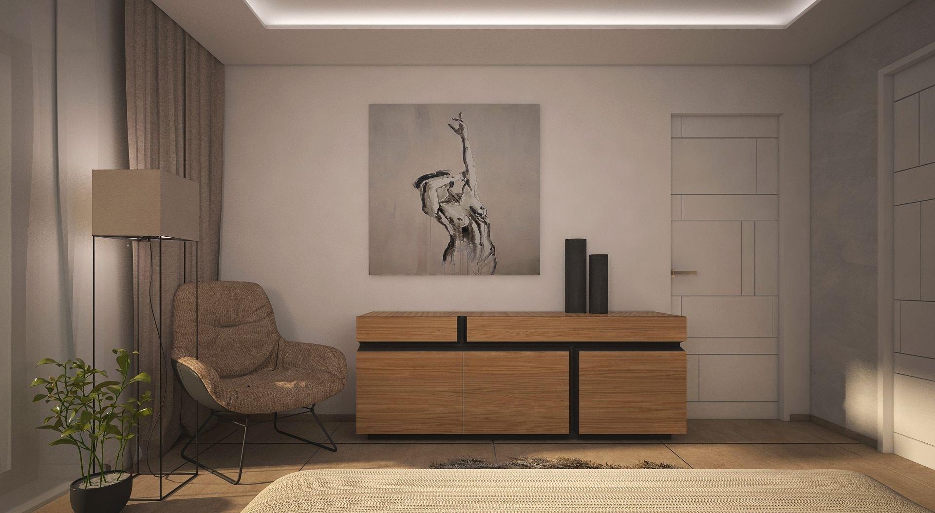 Nahlédněte s námi do vizualizacebytu pro mladý pár. Elegantní interiér vás zaujme nejen pletou světlých tónů a přírodních materiálů.