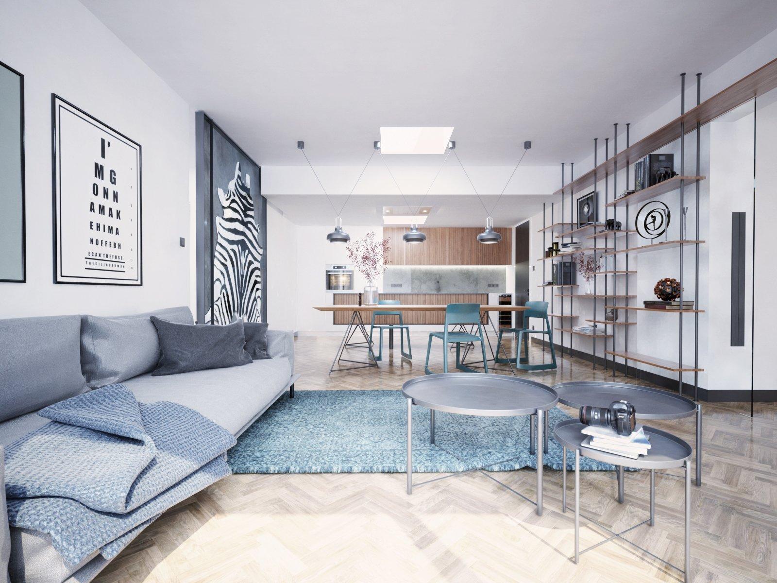 Velmi světlý byt vcentru Prahy, kterému dominují výrazné prosklené plochy a stropní světlíky, tak by se dal charakterizovat výchozí stav bytu, do kterého…