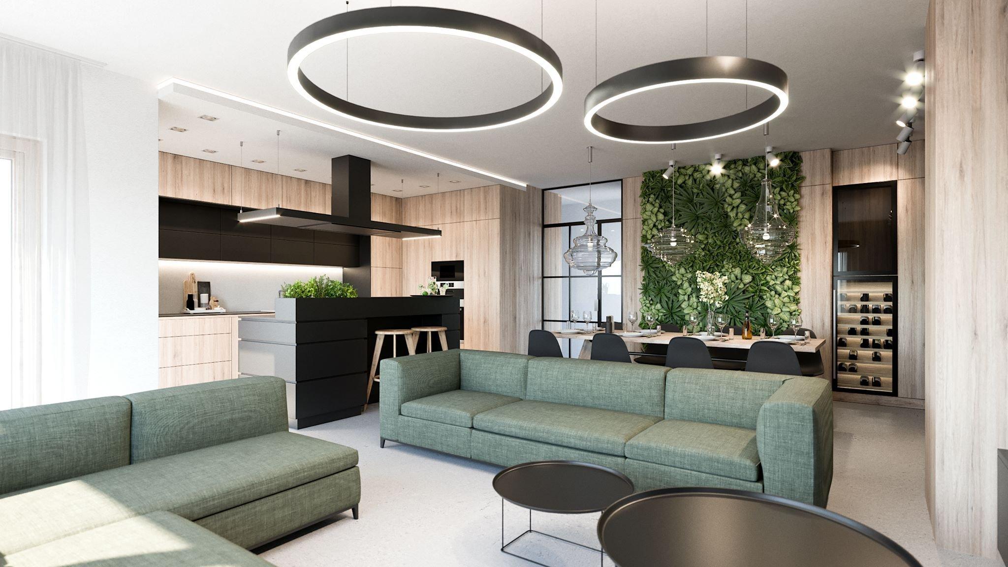 Návrh interiéru v developerském projektu Modřanka