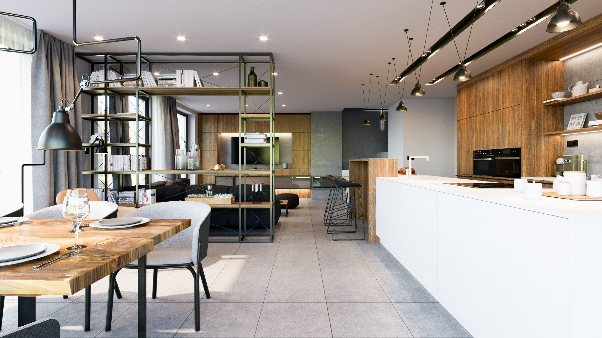 Interiér rodinného domu Nelahozeves - studie domu, kompletní projektová dokumentace, projekt interiéru
