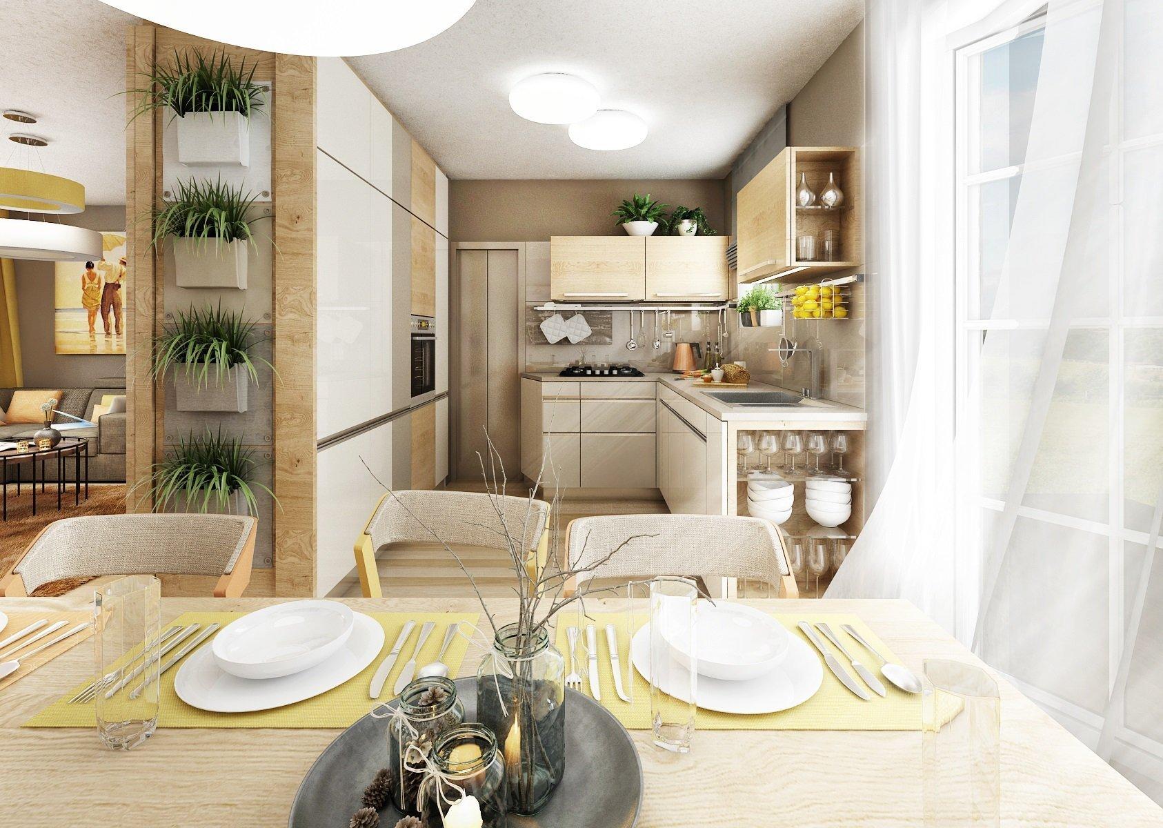 Kuchyňka s obyvákem