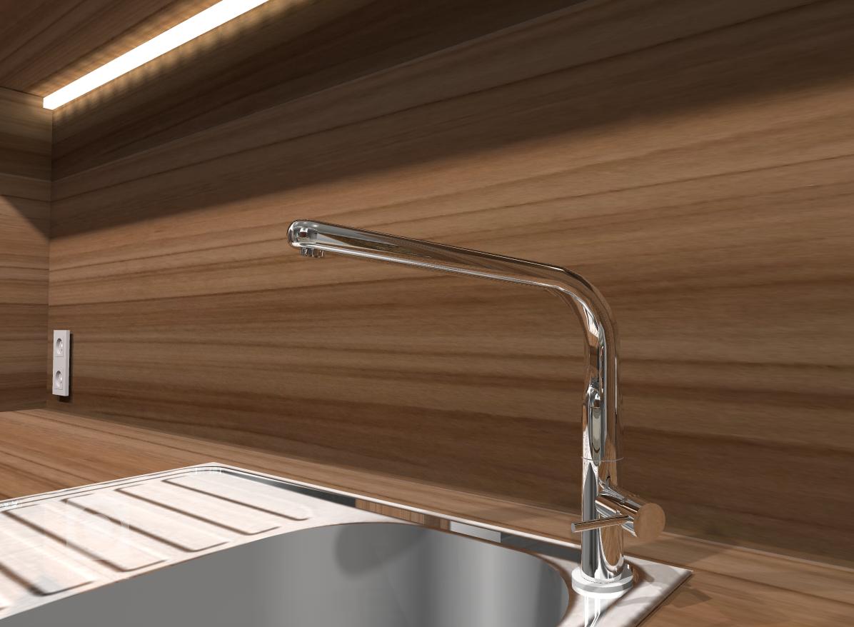 Vizualizace, detail kuchyňské linky