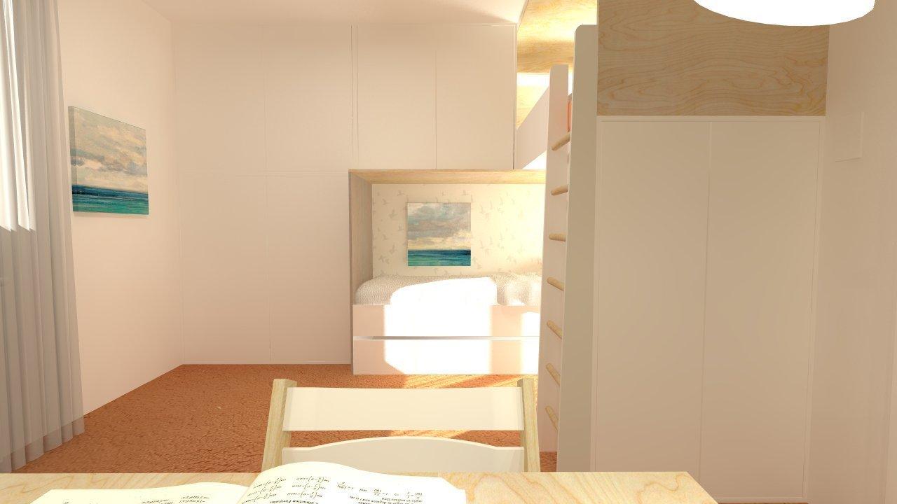 Paní Magda mne oslovila s přáním vytvořit pokojík pro jejich 2 malé slečny. Cca 12 metrů čtverečních, relativně nízký rozpočet a nový koberec v zrzavooranžové…
