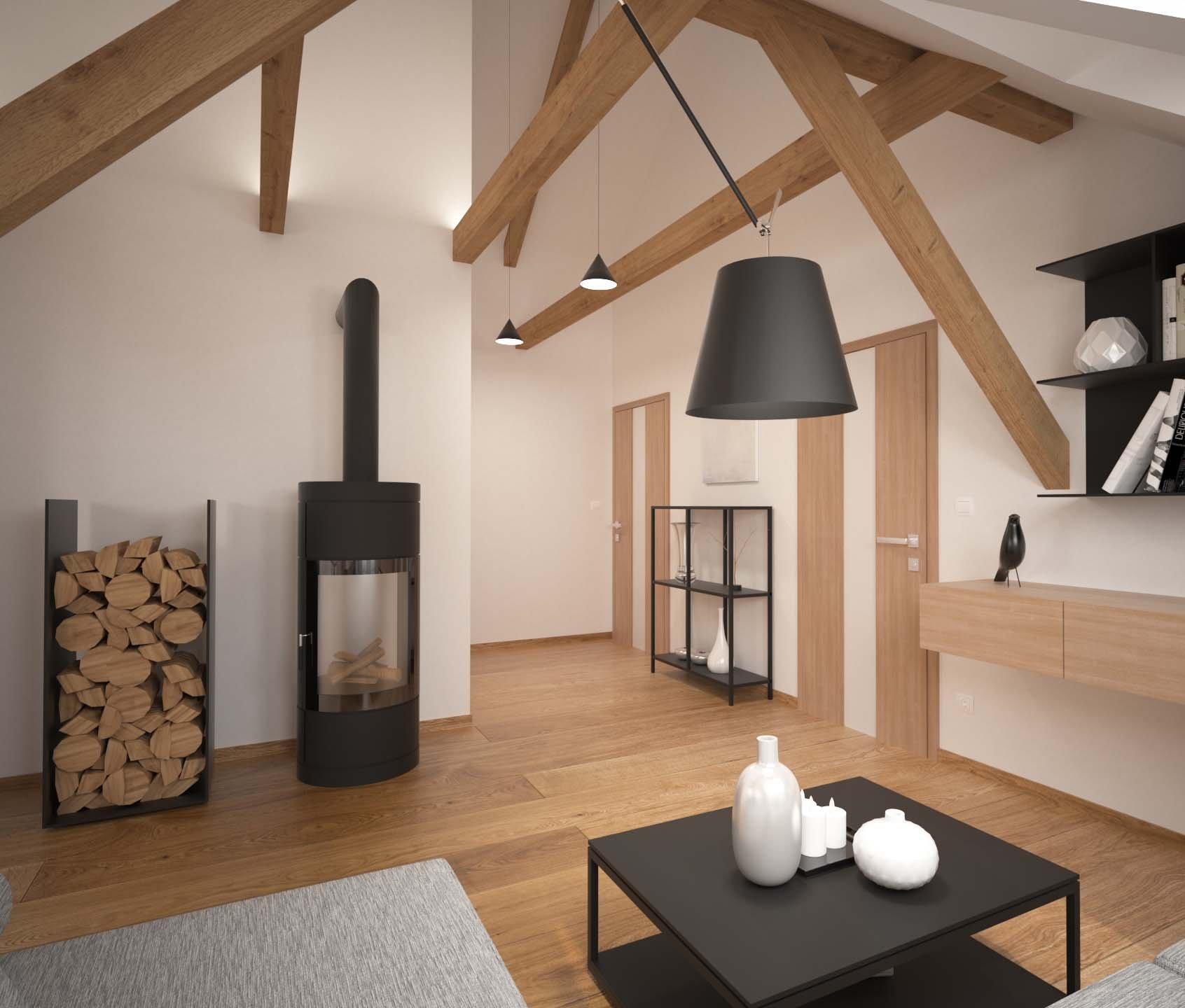 Startovní podkrovní bydlení mladého páru. Jistě vás zaujme jednoduchou dispozicí iútulností. Dominantou je moderní kuchyně v barevné kombinaci elegantní…