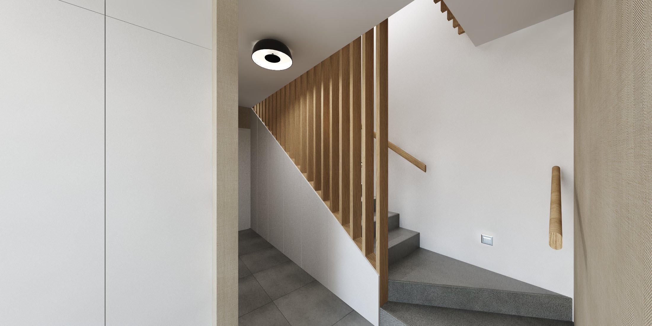 Príjemný interiér rodinného domu, ktorý je navrhnutý v obľúbených naturálnych farbách s dôrazom na nadčasovosť.