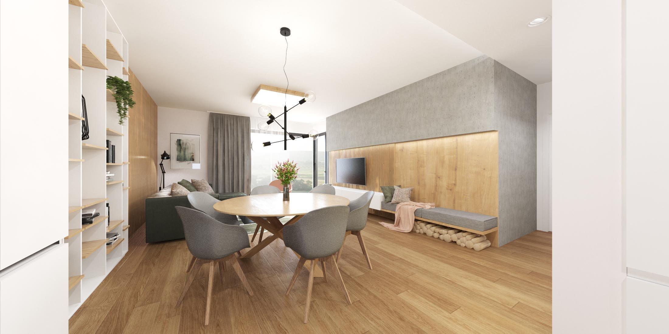 Nášprojekt z kategórie rodinných domov sme poňali veľmi elegantne a vzdušne. V interiéri prevládajú farebné akcenty v odtieňoch zelenej a ružovej, ktoré…
