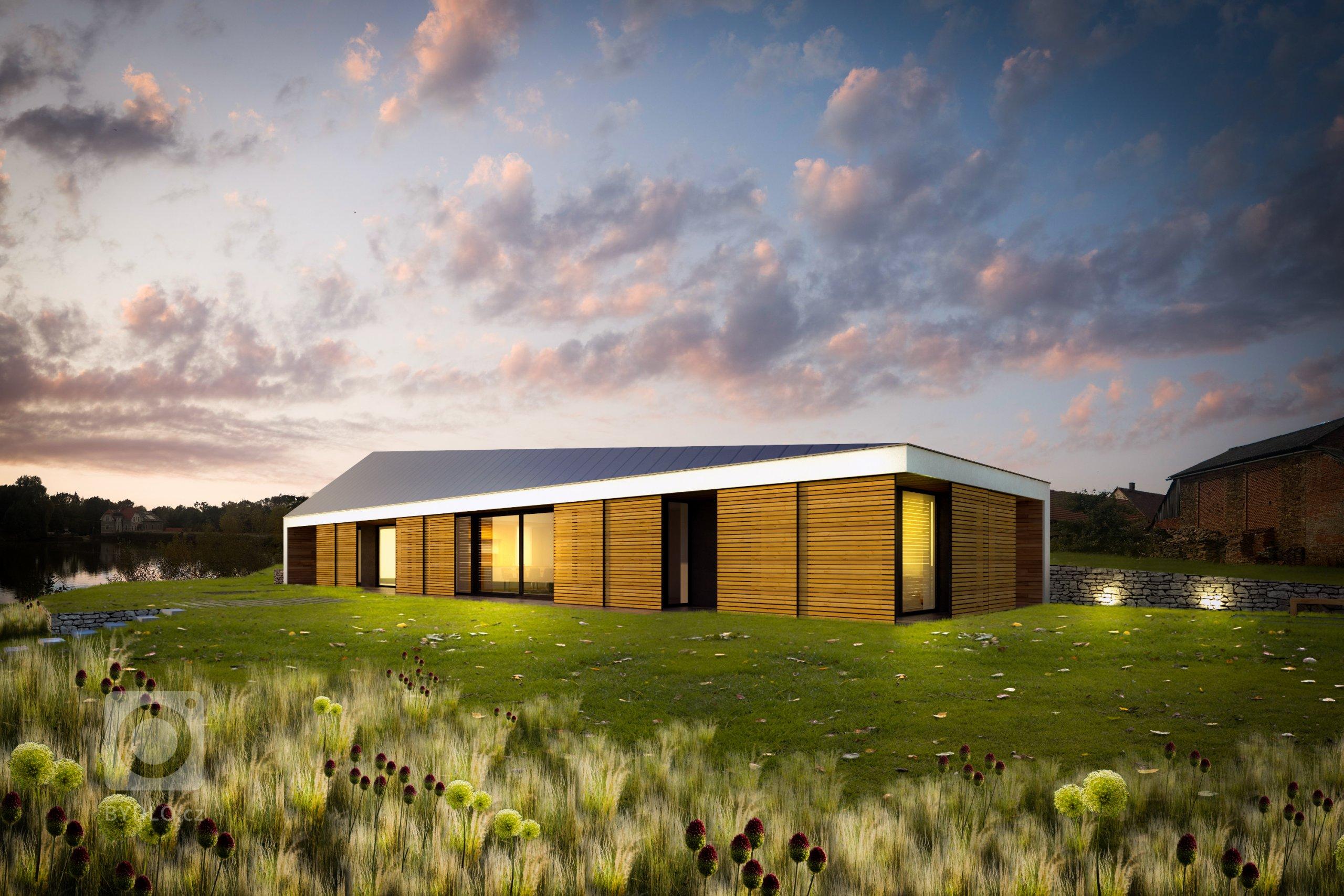 Zadáním bylo vytvořit návrh takového domu, jež by těžil z výhodné situace (jižní svah), nabízel adekvátní propojení s exteriérem a dokázal akcentovat či využít…