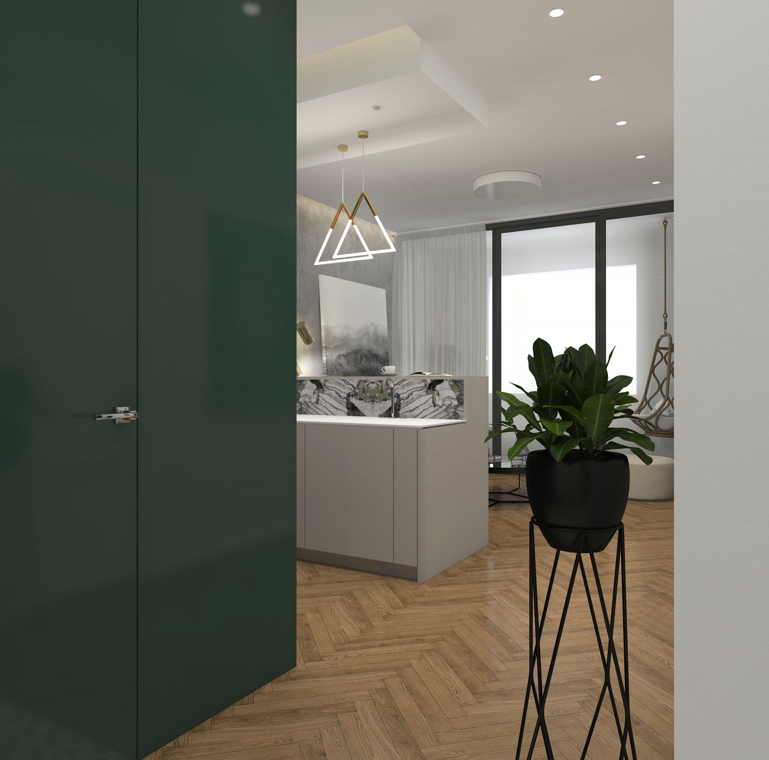 Špecificky navrhnutý 2 izbový byt v novostave v starom meste Bratislavy pre mladého muža. Drevo, kameň, sklo, lakovaný nábytok dizajnové solitéry a…