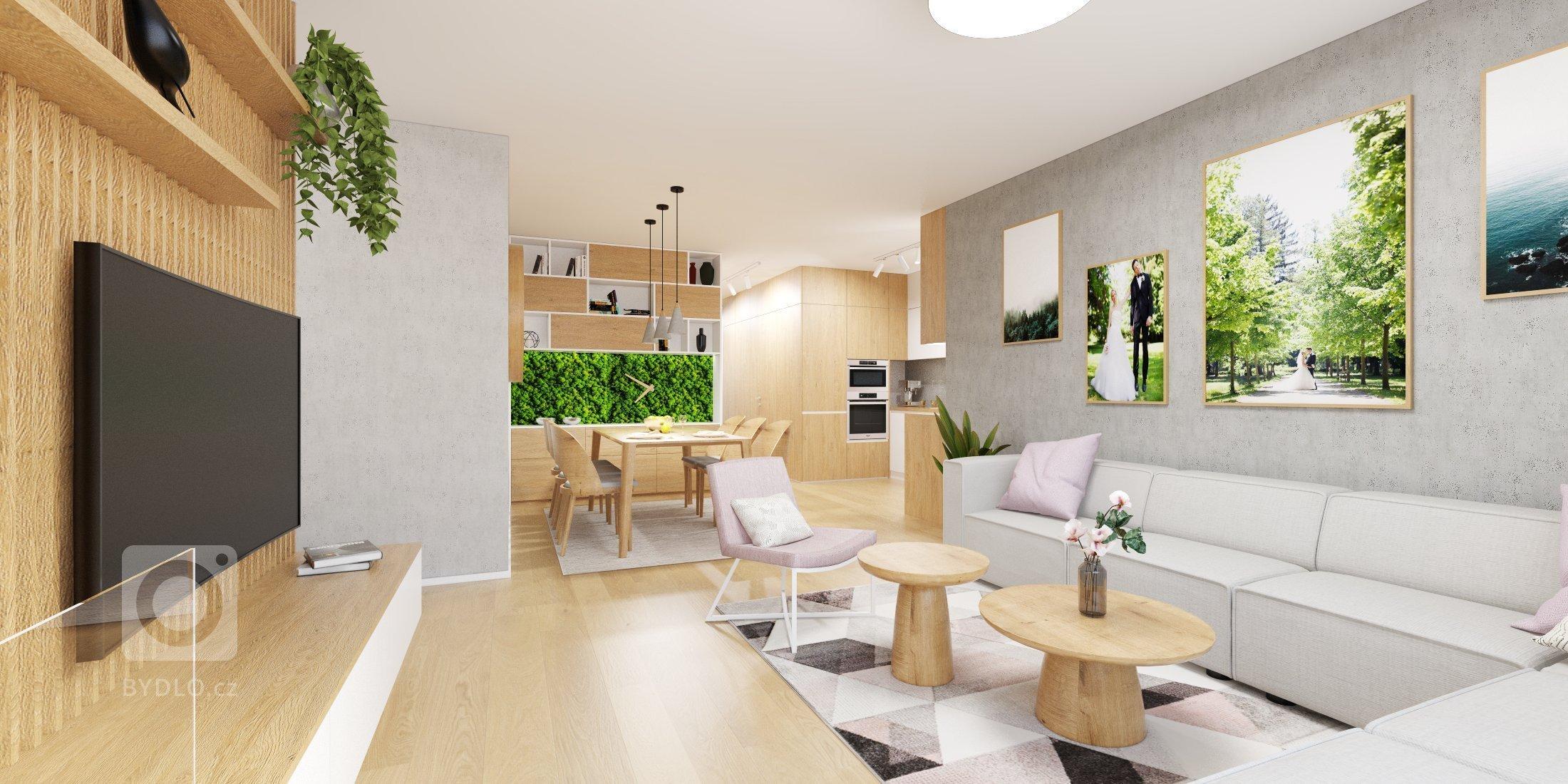 Náš návrh bytu vKolísky Záhorská Bystrica????, kde sme sa pohrali s väčšími plochami machu odMOSSdesign☘️, ktoré pekne vyniknú na…