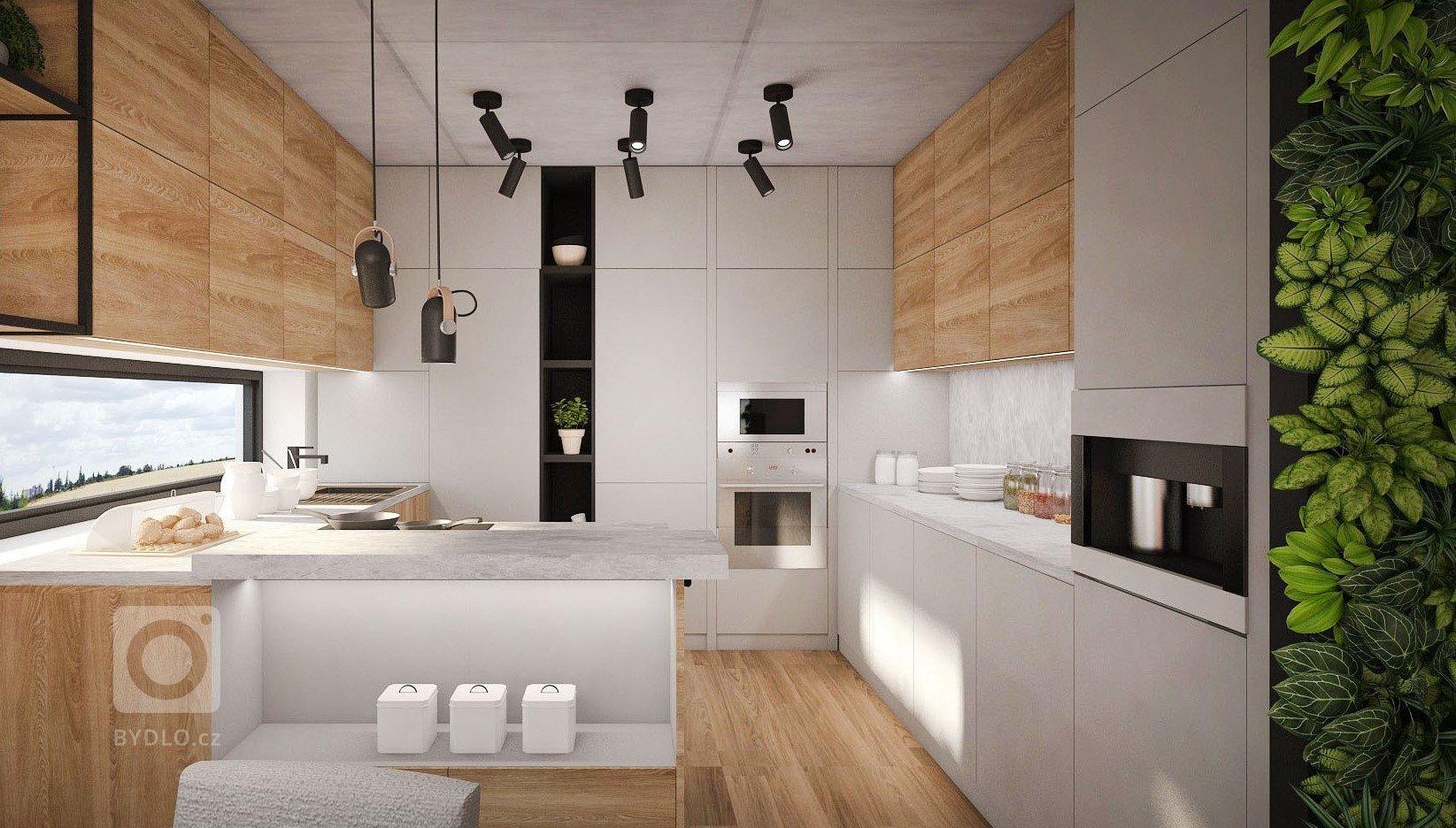 Návrh interiéru pro mladý pár v kterém bych mohla bydlet sama. Kombinace dubu, odstíny šedé a antracitových ocelových prvků patří mezi oblíbené. Interiér oživí…