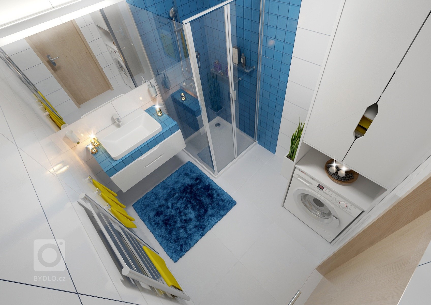 Barevný byt vnovostavbě, kde skoro každá místnost má jinou doplňkovou barvou. Základ se nese vbílé, hnědé a šedé. Vobývacím pokoji zaujme…