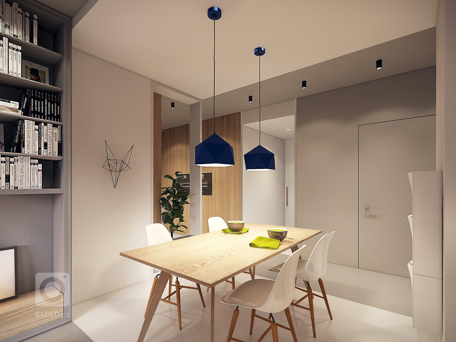 Vizualizace interiéru bytu pro mladou rodinu ve Varšavě