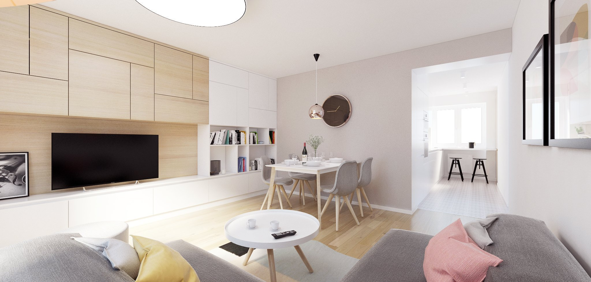 Projekt je špecifický kompletnou rekonštrukciou bytu z 50-tych rokov, ktorý prešiel úpravou dispozície, hlavne v časti kuchyne a kúpeľne, do novej, modernej…