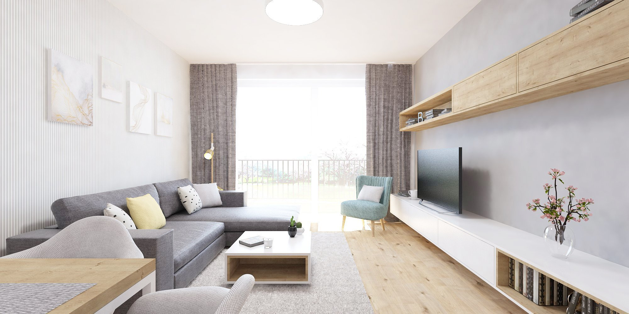 Nový interiér v projekte Slnečnicesa nesie v príjemnej a overenej kombinácii bielej farby a dreva. Elegantný podklad návrhu jemne ozvláštňujú prvky s…