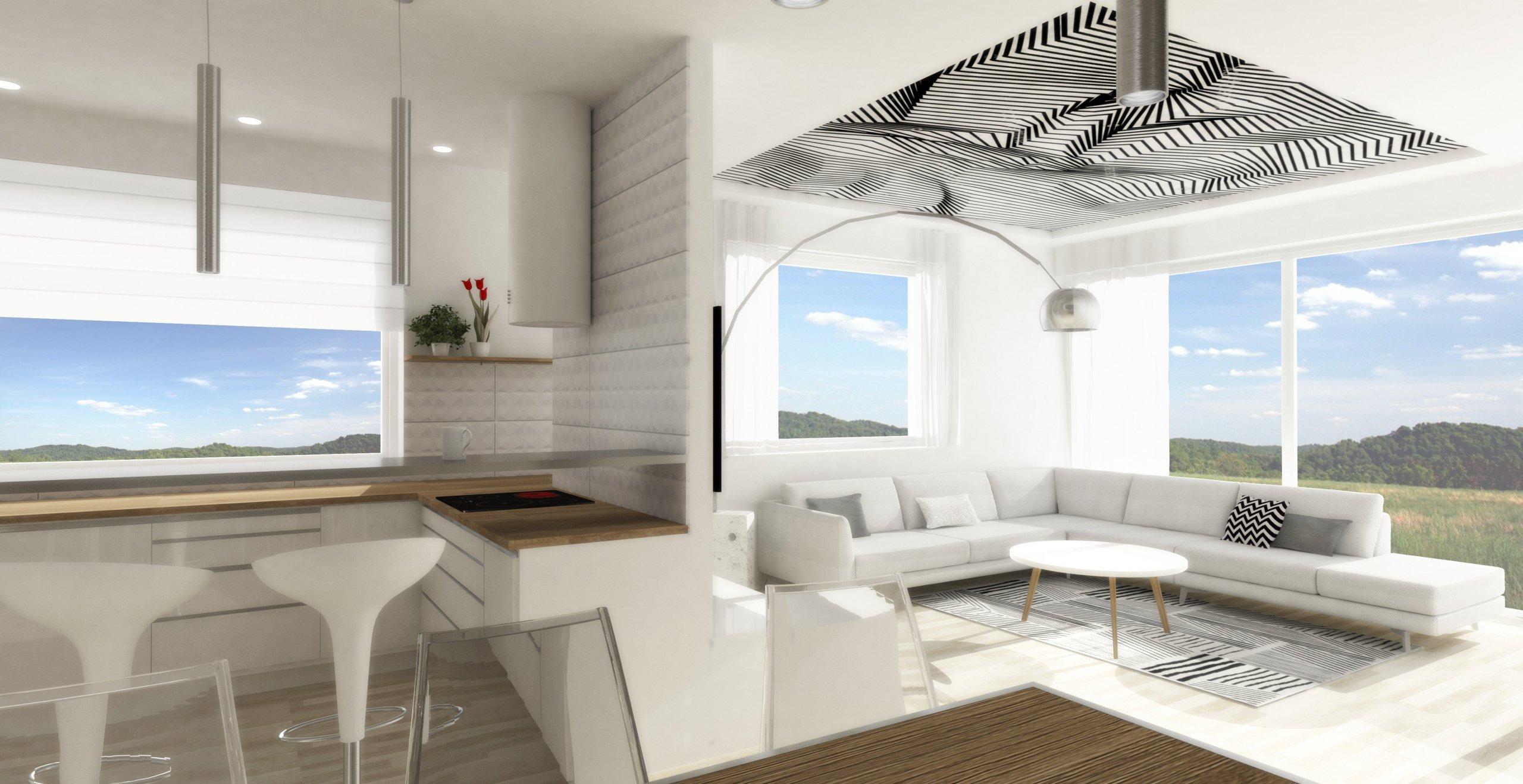 Návrh obývacího pokoje s kuchyní a jídelnou. Požadavek byl na jednoduchost a čistotu provedení, ale tajné přání bylo, aby to v detailu působilo luxusně.…