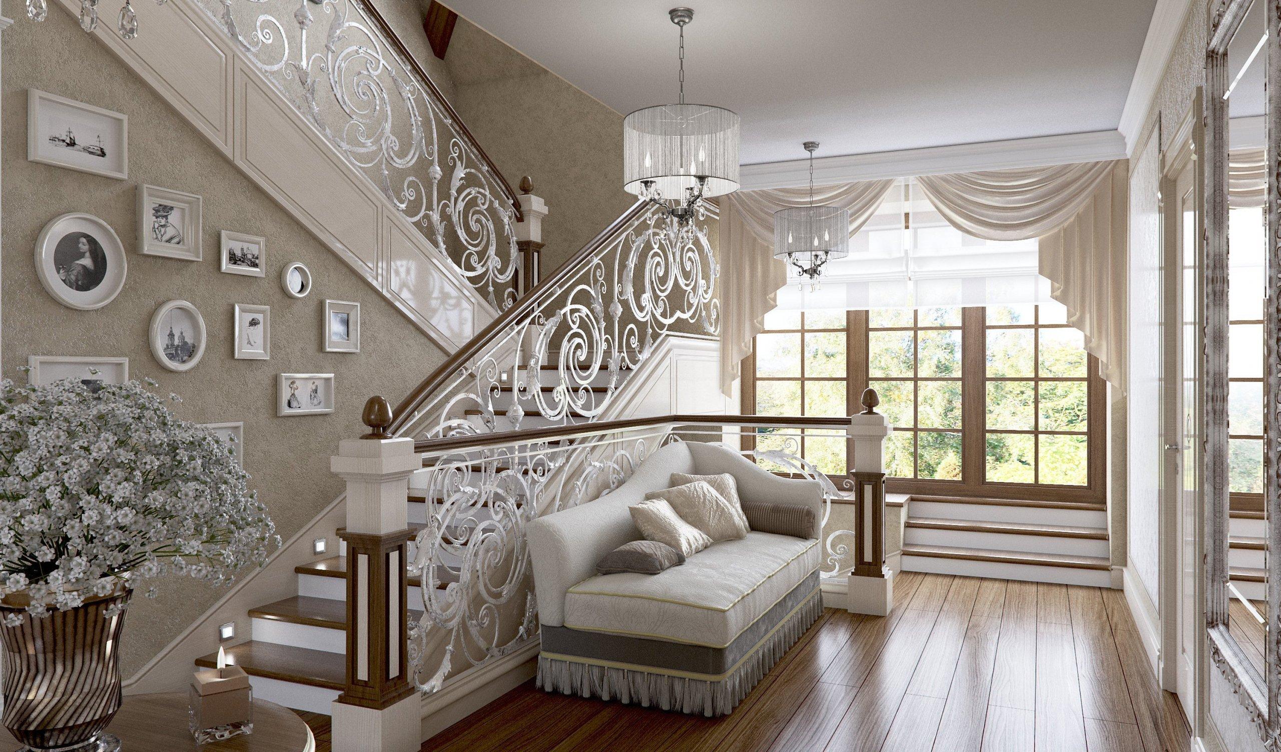 """Privátní rezidence je řešená v klasickém stylu. Dřevěné obložení stěn """"boiserie"""" přidává interiérům nádech luxusu, ale zároveň nepůsobí těžce díky…"""