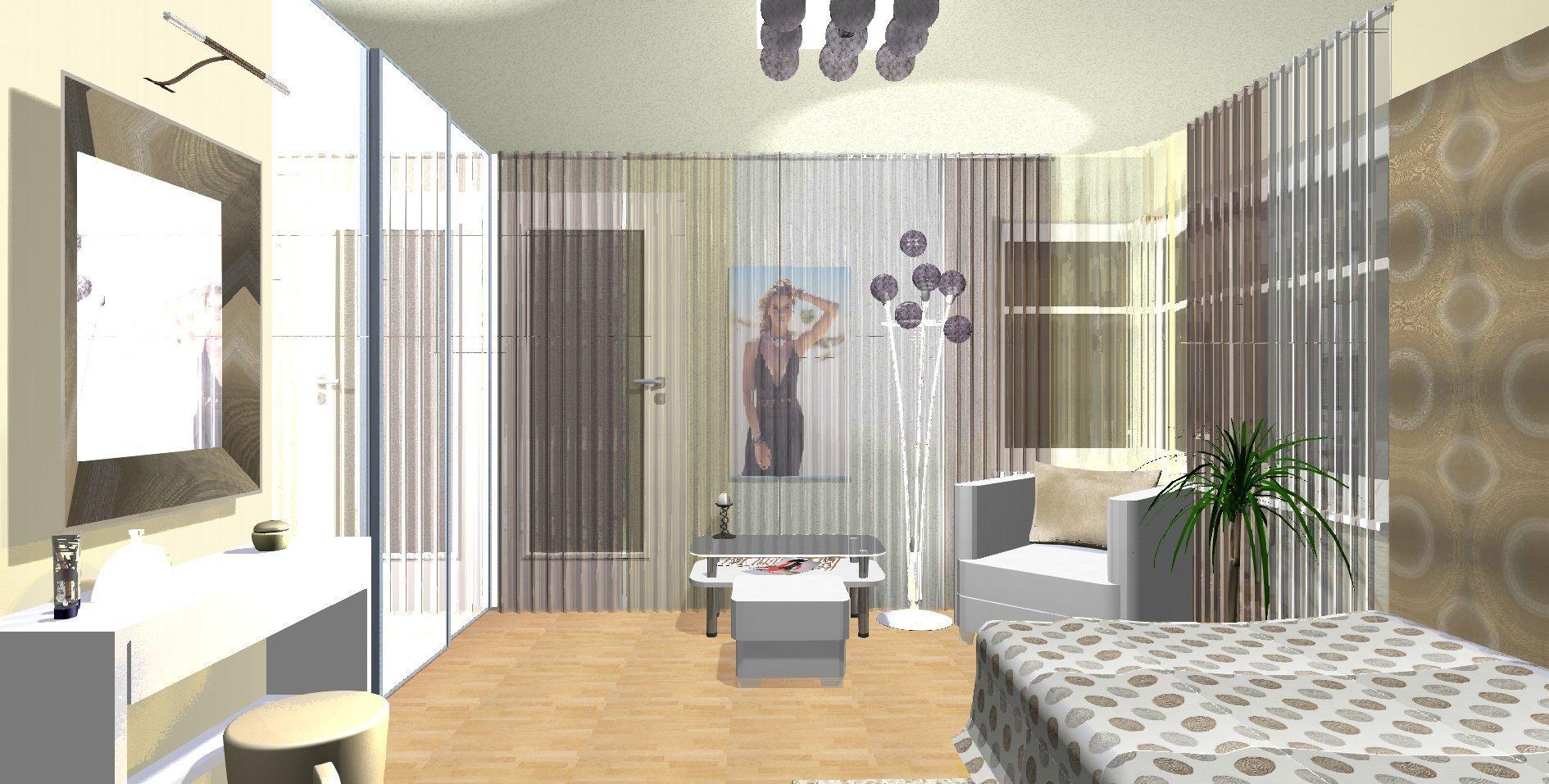 Dívčí pokoj disponuje rohovými okny, které doplnily pásy voálových záclon na průběžné tvarované kolejnici. Jednotlivé pruhy voálů jsou v barevné stupnici…