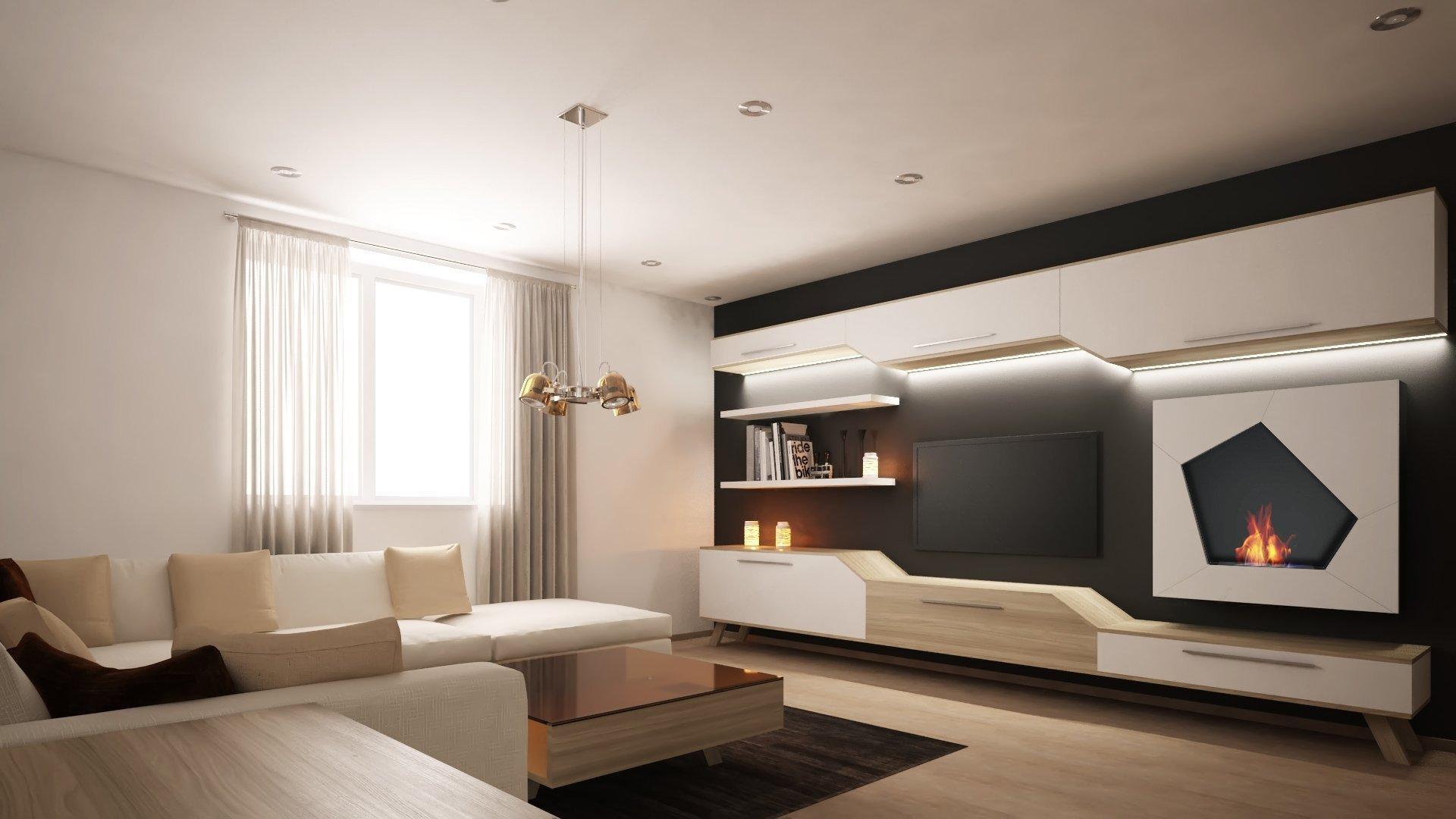 Moderní rekonstrukce staršího bytu v Ostravě pro mladého muže. Dispozice 2KK. Moderní pojetí obývací stěna s BIO krbem, který dodá teplo domovu. Kuchyně v…