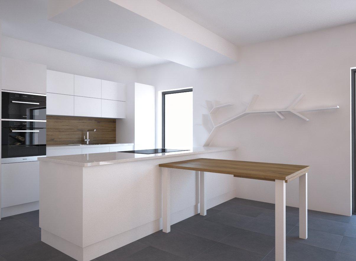 Nový rodiný dům a velký prázdný prostor, který potřeboval minimalistický design.. Vypořádat se požadavky klientky, aby prostor byl prázdý, ale přesto…