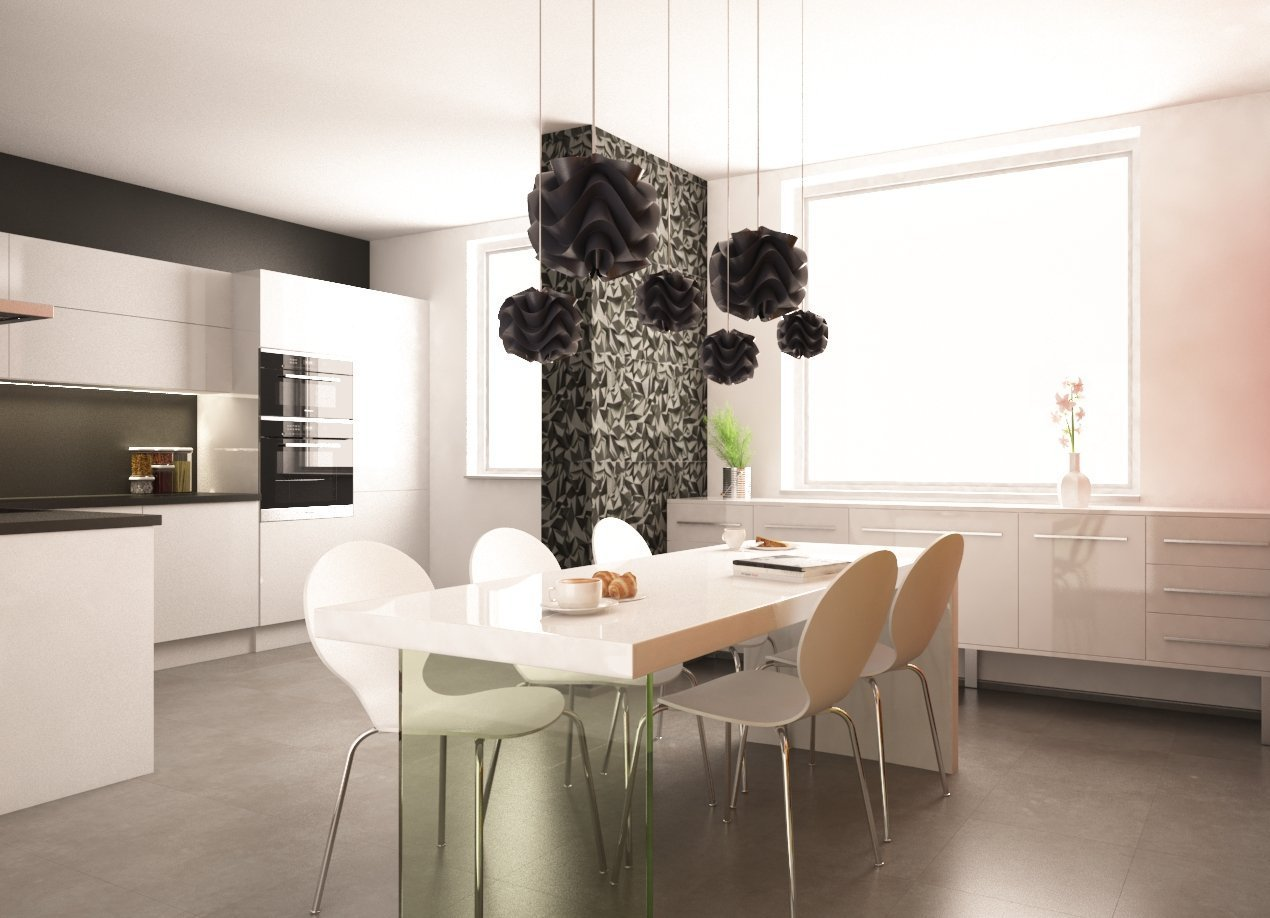 Kuchyně v bílém laku