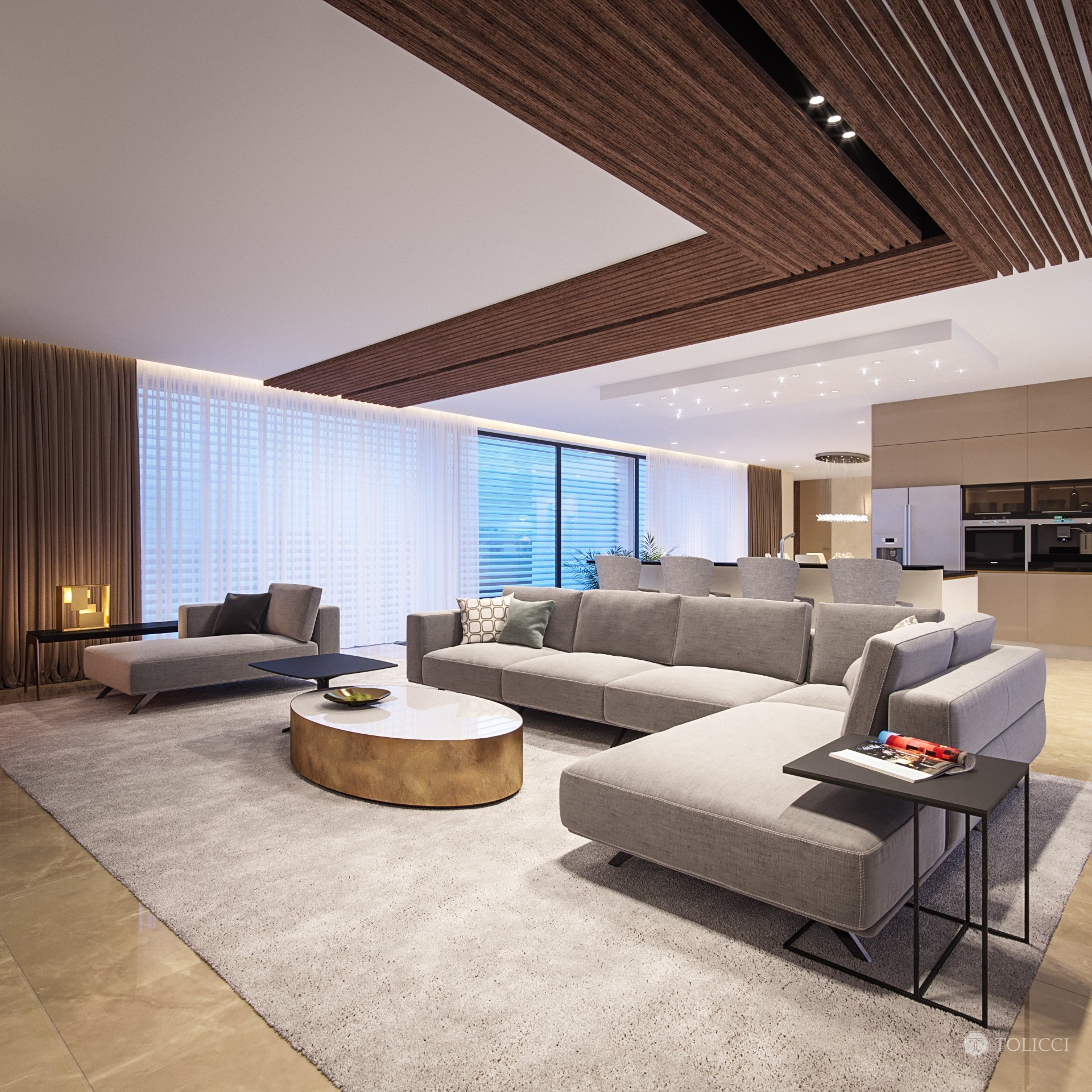 Návrh interiéru tejto rezidencie odráža splynutie krémových farebných tónov a prvkov lesku a exkluzivity arabského sveta. Ako akcenty v tomto návrhu sme na…