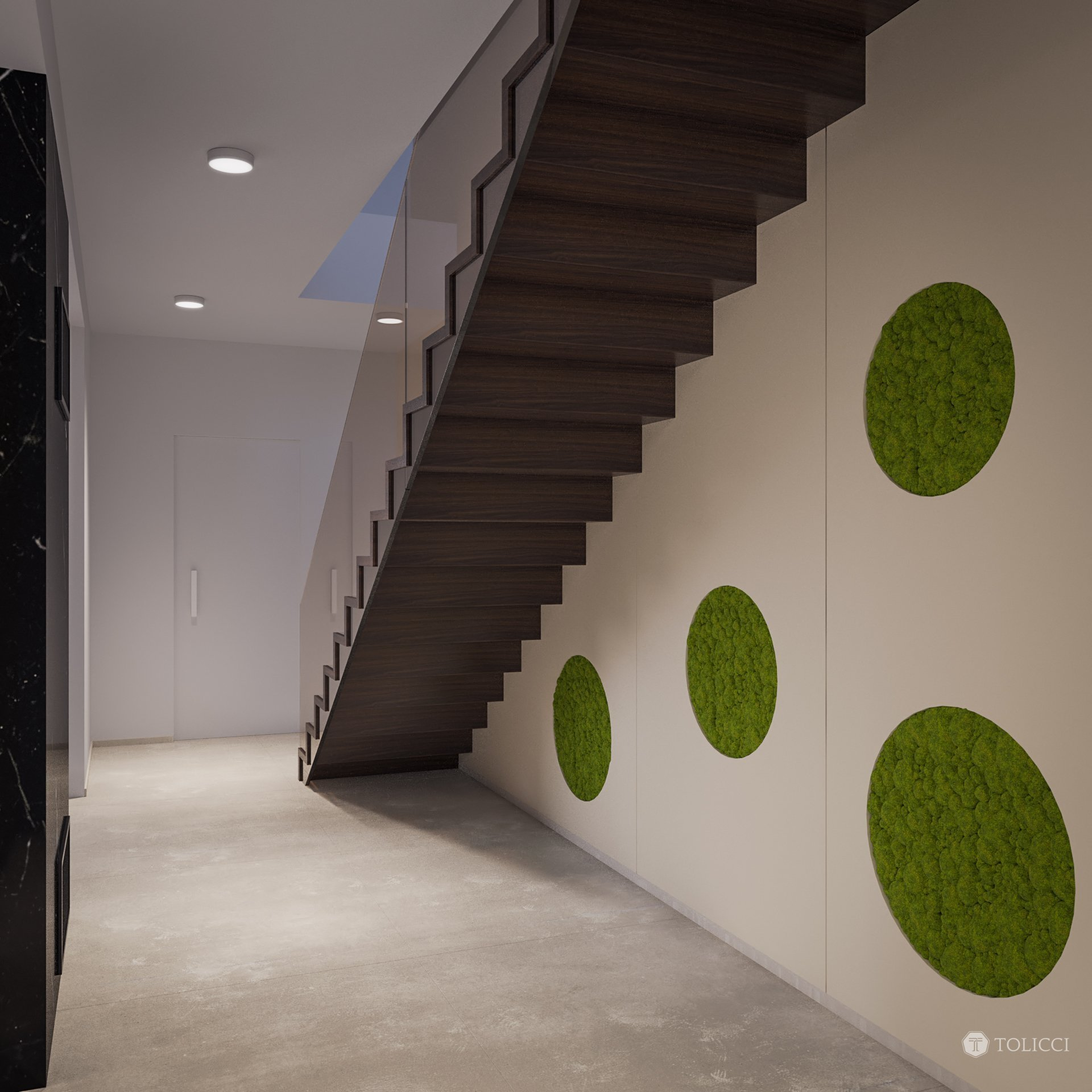 Návrh interiéru tejto rodinnej rezidencie je prioritne založený na základných princípoch identity tvorby interiérov TOLICCI. Základom sa stali zemité, teplé…