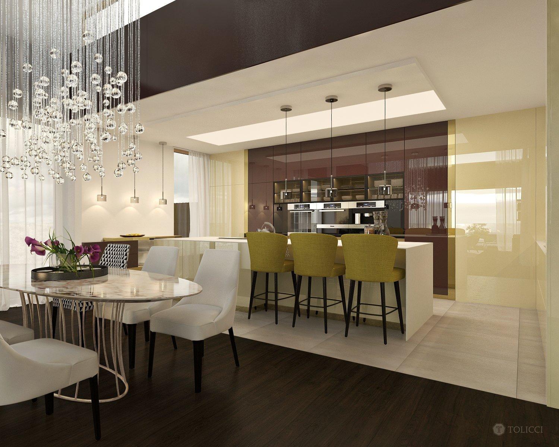 Cieľom návrhu bolo vytvorenie luxusného a moderného Bývania, pričom základom sa stali zemité a teplé farby v kombinácii s lesklými a prírodnými dekormi. Punc…