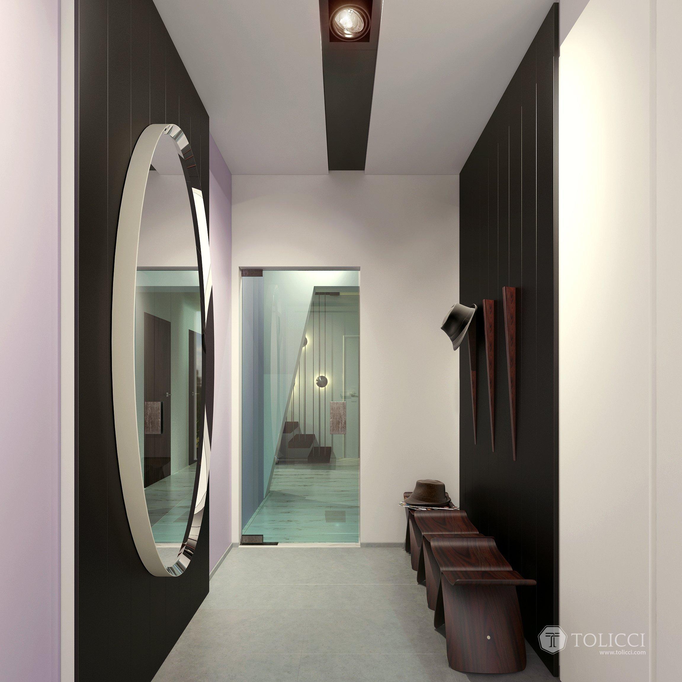 Ide o náš prvý projekt, v ktorom sme aplikovali princípy tradičného talianskeho prístupu k interiéru. Kontrasty tvoria tmavé orechové drevo s bielymi plochami…