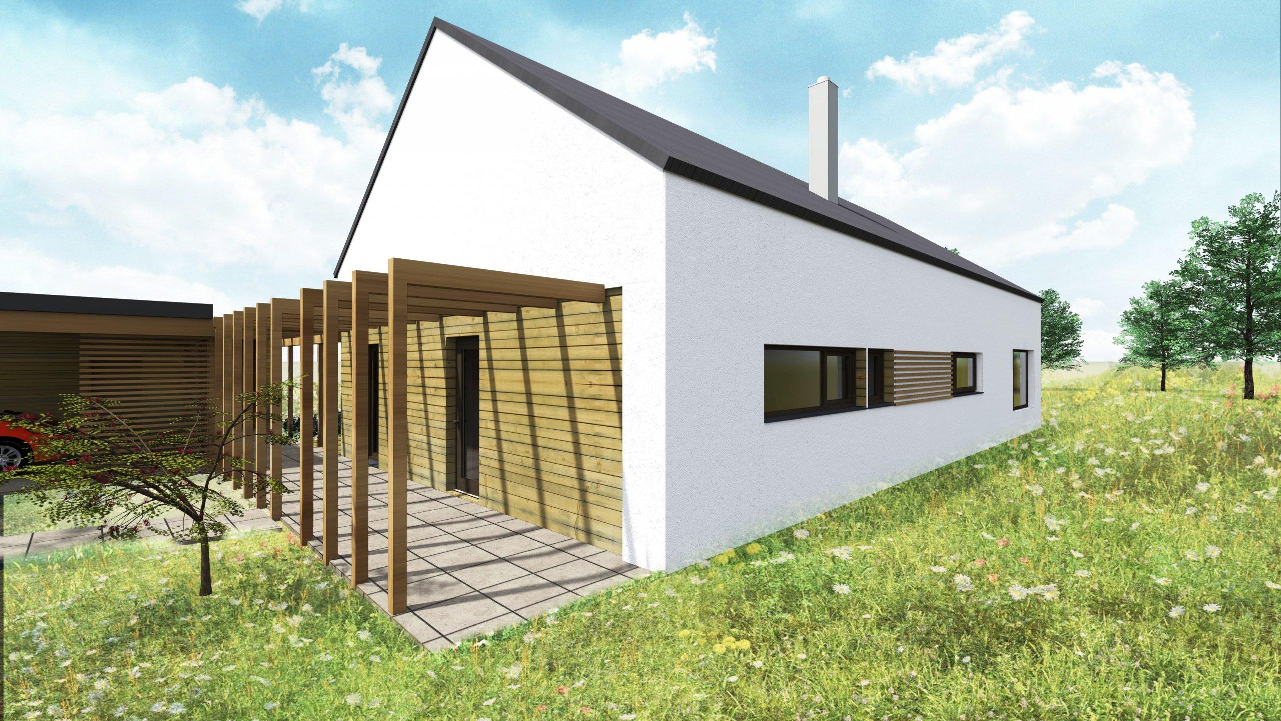 Příchod k domu dřevěným ochozem
