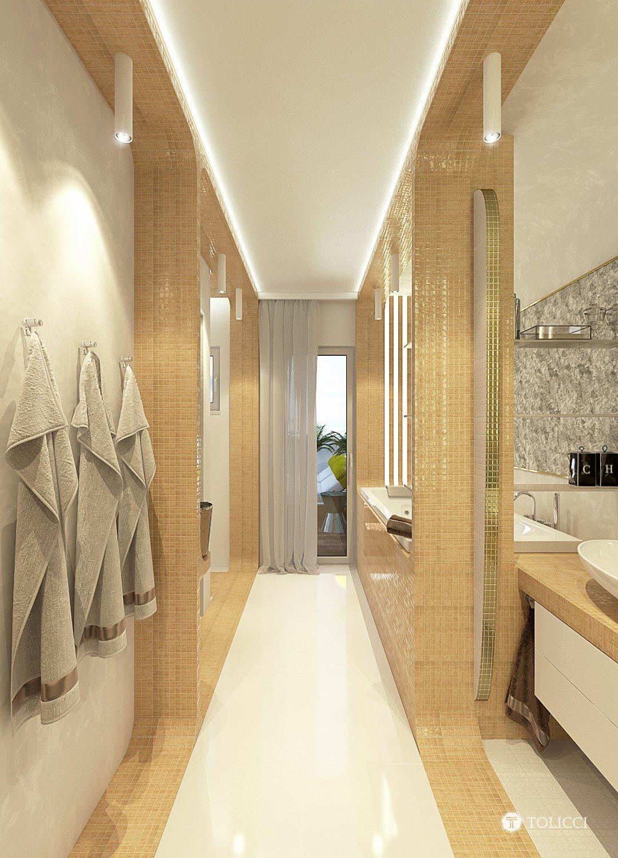Návrh exkluzívnej kúpeľne vznikol na špeciálnu požiadavku klienta pre vytvorenie dizajnérsky výnimočnej apartmánovej kúpeľne so saunou. Kúpeľňa je vytvorená na…