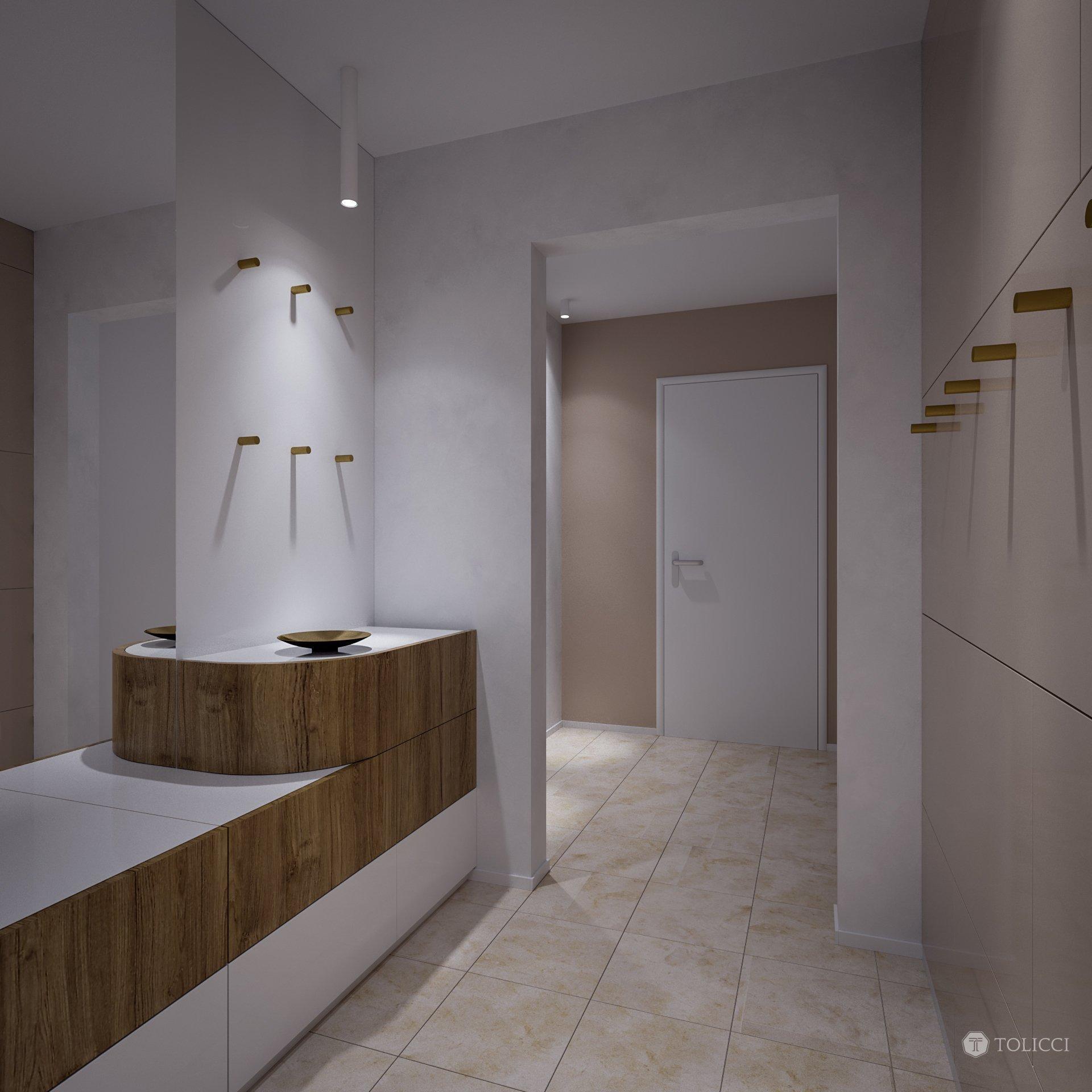 Cieľom návrhu rekonštrukcie bytu bolo vytvoriť prirodzený, jednoduchý a elegantný dizajn. Základ interiéru tvoria jednoduché línie doplnené o príjemné farebné…