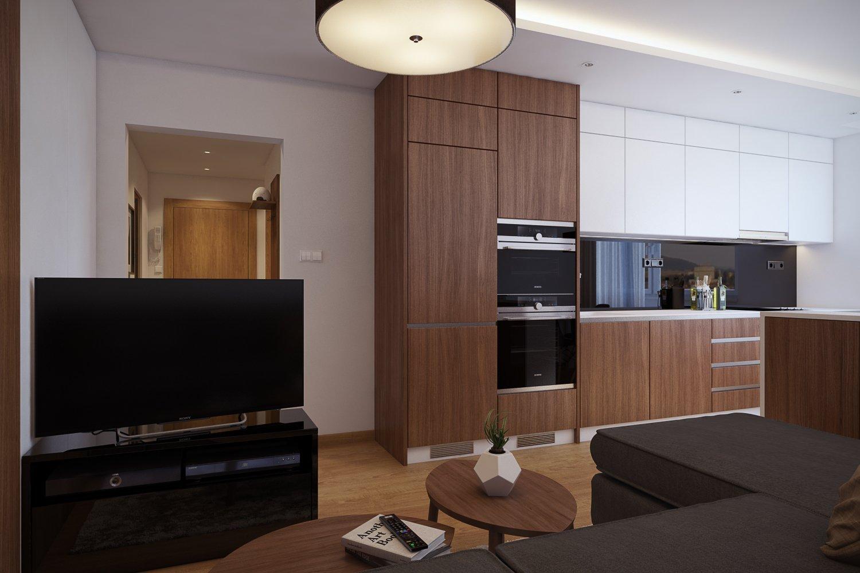 Rekonštrukcia bytu zahŕňala prerobenie 2. izbového bytu na 3. izbový. V prvej časti som navrhol a zvizualizoval obývaciu izbu, ktorá sa spojila spolu s…