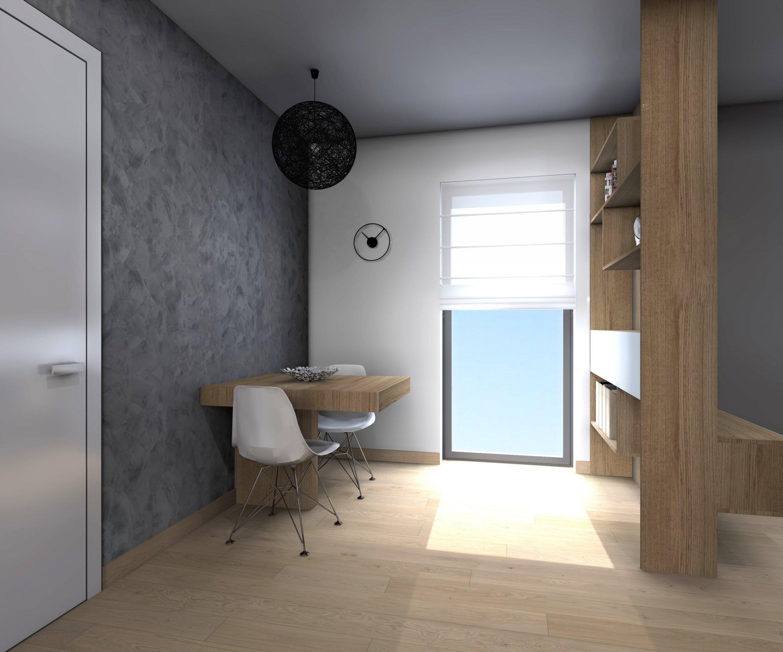 Obývací pokoj s kuchyní a pracovním koutkem