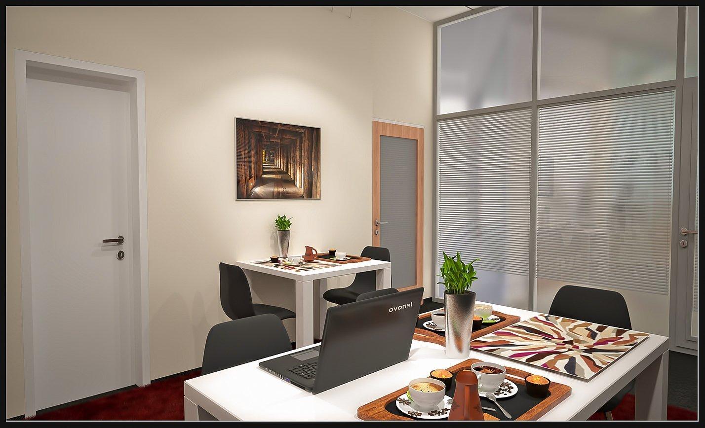 odpočinková místnost u kanceláře