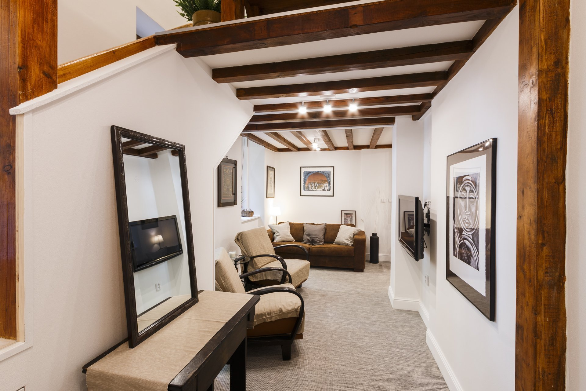 Interiér bytu pro krátkodobý pronájem