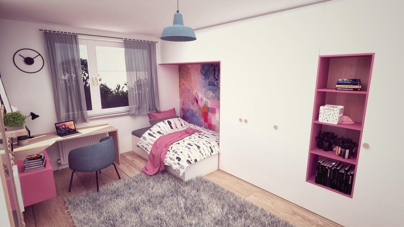 Do návrhu interiéru klasického panelákového bytu v Piešťanoch sme sa snažili priniesť príjemnú farebnosť a decentnú hravosť v zariadení.