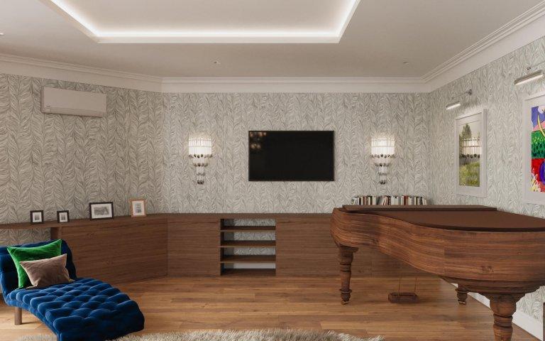 Návrh obývacího pokoje v domě, kde byl již zastaralý interiér a rodina požadovala refresh. Jeden z mála klientů se nebáli prostor oživit barvami , barevnými…