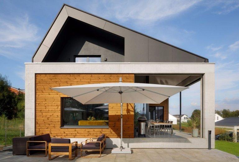 Kombinace dřeva a betonu