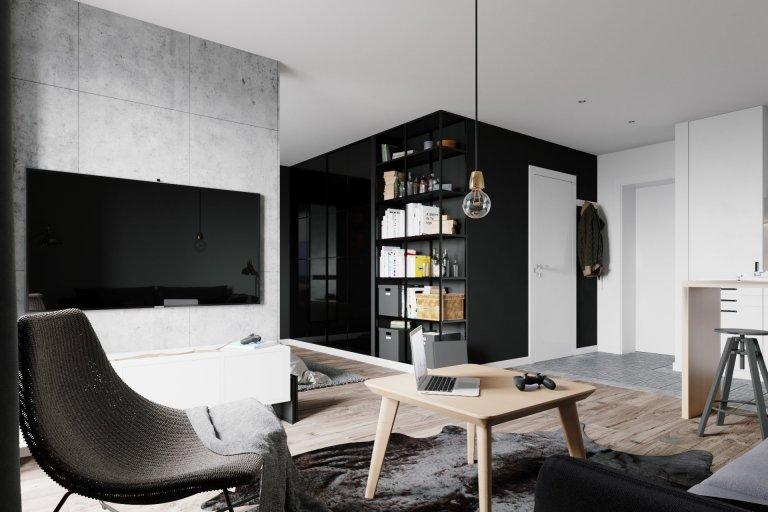 Černá barva bytu sluší