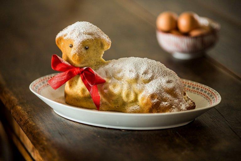 Ořechový velikonoční beránek