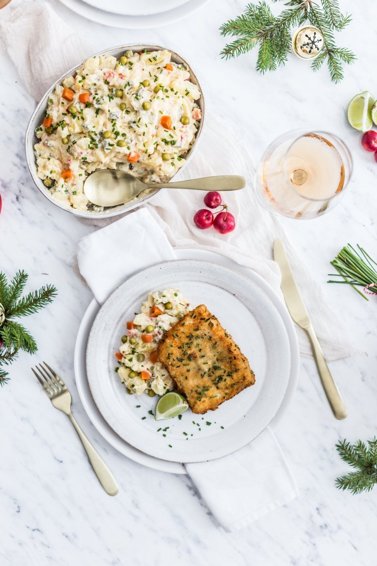 Smažená treska s bramborovým salátem