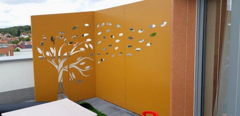 Designová zástěna na terase