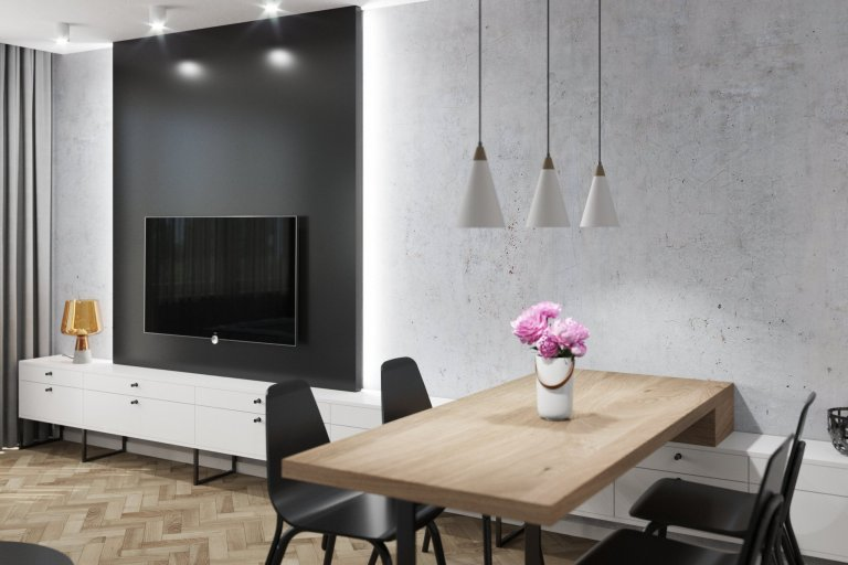 Jedná se o funkční amoderní interiér v minimalistickém stylu, který splňuje požadavky současného bydlení. Bytv panelovém domě projde kompletní…