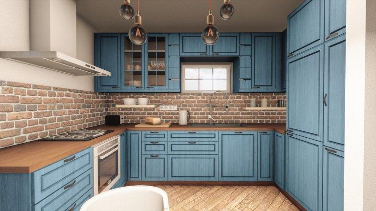Bohostyl - kuchyně s obývacím pokojem